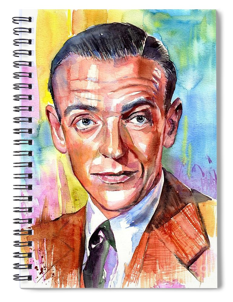 Fred Astaire Spiral Notebook featuring the painting Fred Astaire Painting by Suzann Sines