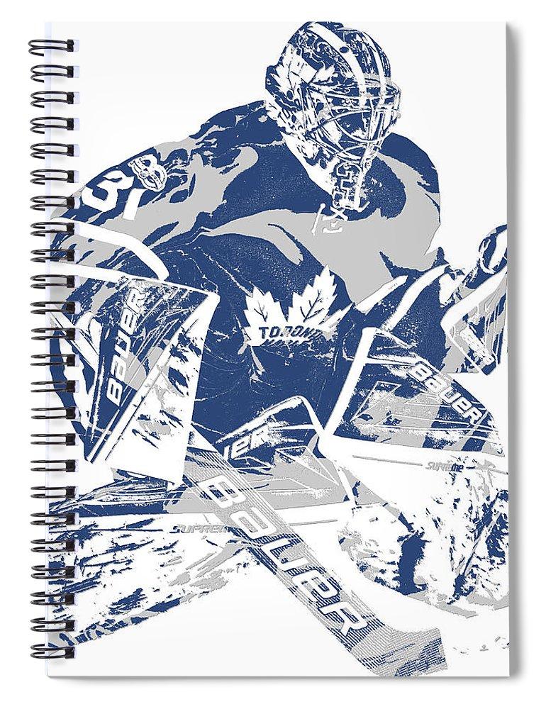 Frederik Andersen Toronto Maple Leafs Pixel Art 2 Spiral Notebook For Sale By Joe Hamilton