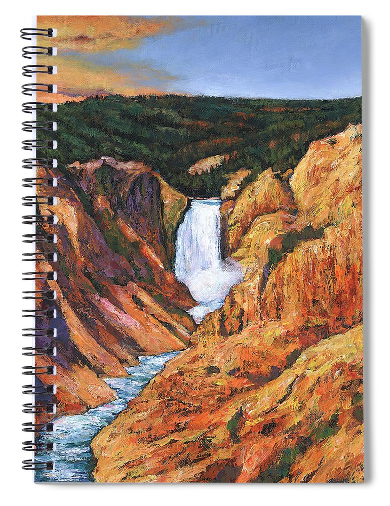 Wyoming Spiral Notebook featuring the painting Free Falling by Johnathan Harris