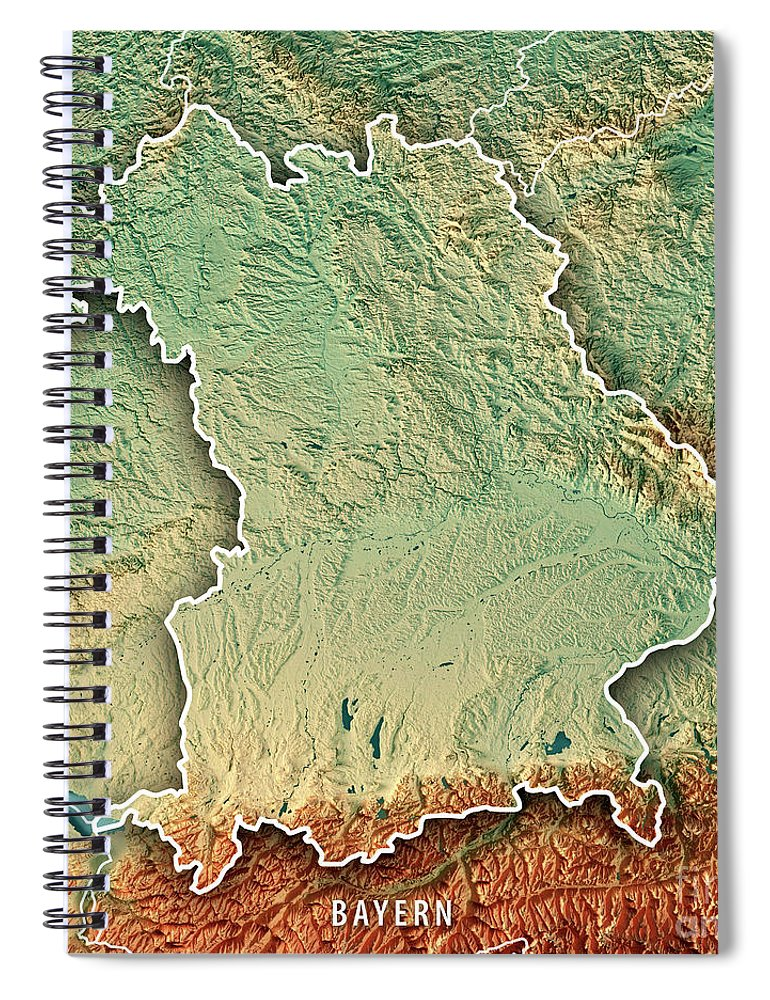 Free State Of Bavaria Germany 3d Render Topographic Map Border ...