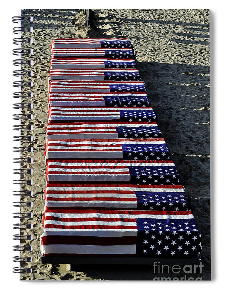 Clay Spiral Notebook featuring the photograph Freedom Costs by Clayton Bruster