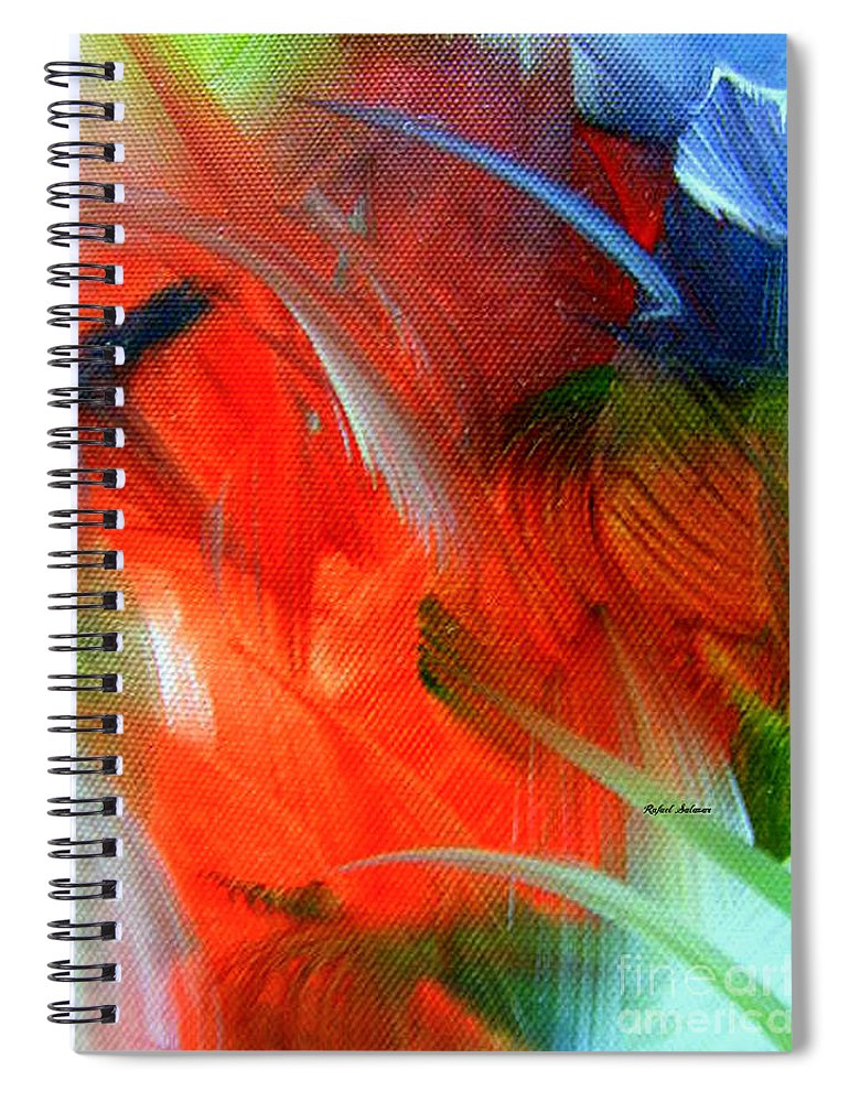 Rafael Salazar Spiral Notebook featuring the painting Freedom With Art by Rafael Salazar