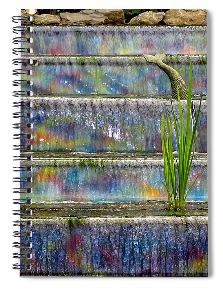 Mermaid Spiral Notebook featuring the photograph Frolicking Mermaid by Ed Weidman