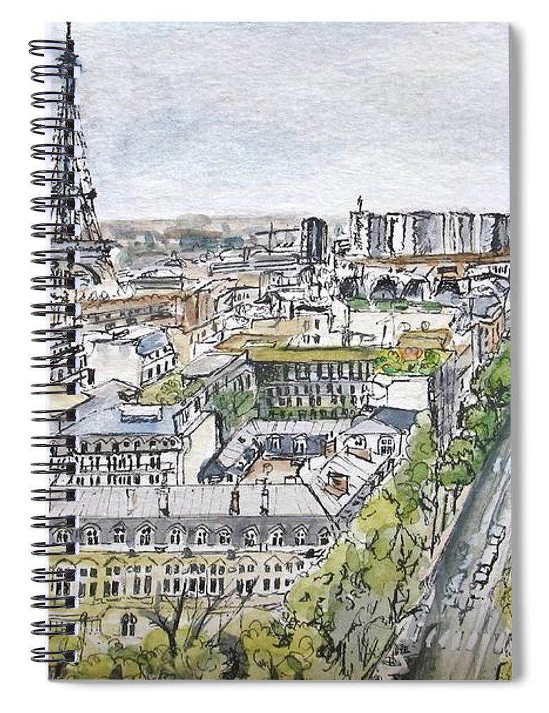 Sky Spiral Notebook featuring the painting From The Arc by Lisa Cini