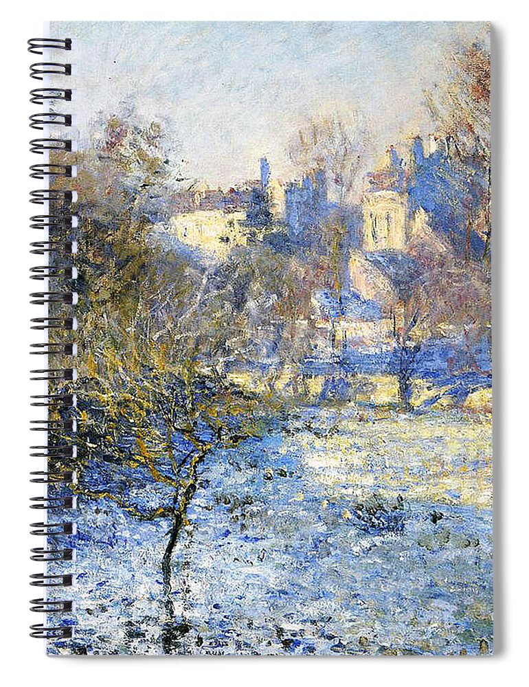 Frost Spiral Notebook featuring the painting Frost by Claude Monet