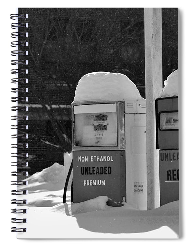 B&w Spiral Notebook featuring the photograph Full service by Lisa Kane