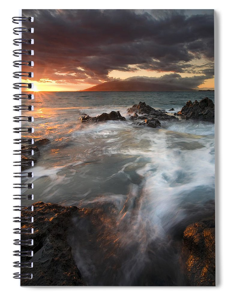 Cauldron Spiral Notebook featuring the photograph Full To The Brim by Mike Dawson