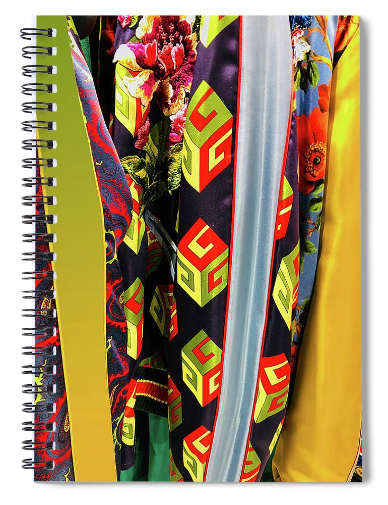 G Spiral Notebook featuring the photograph G Cubes by Ceil Diskin