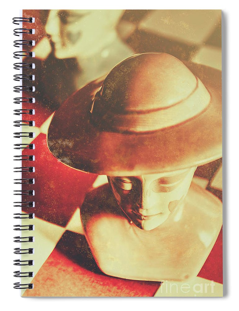 Wild Spiral Notebook featuring the photograph Games Of The Wild West by Jorgo Photography - Wall Art Gallery