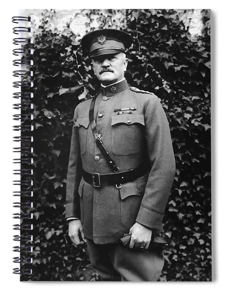 Ww1 Spiral Notebook featuring the painting General John J. Pershing by War Is Hell Store