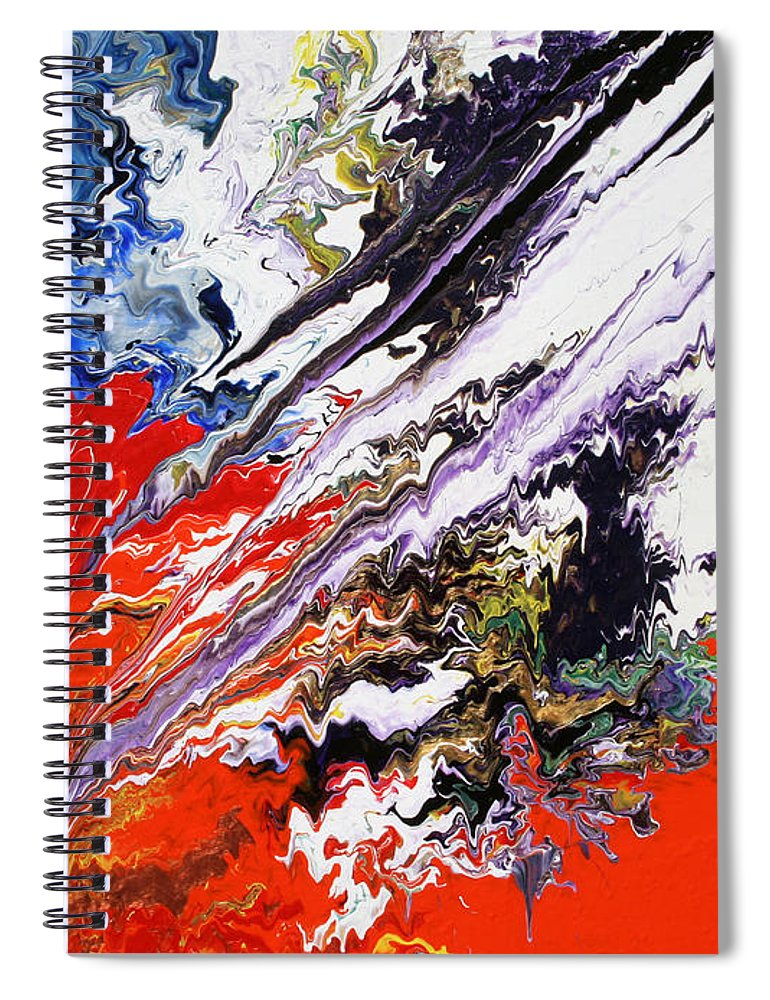 Fusionart Spiral Notebook featuring the painting Genesis by Ralph White