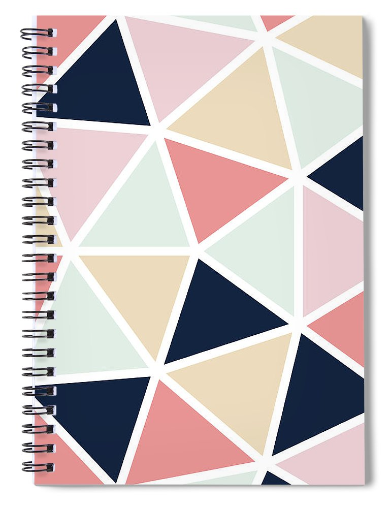 Colorful Spiral Notebook featuring the digital art Geodesic by Ultra Pop
