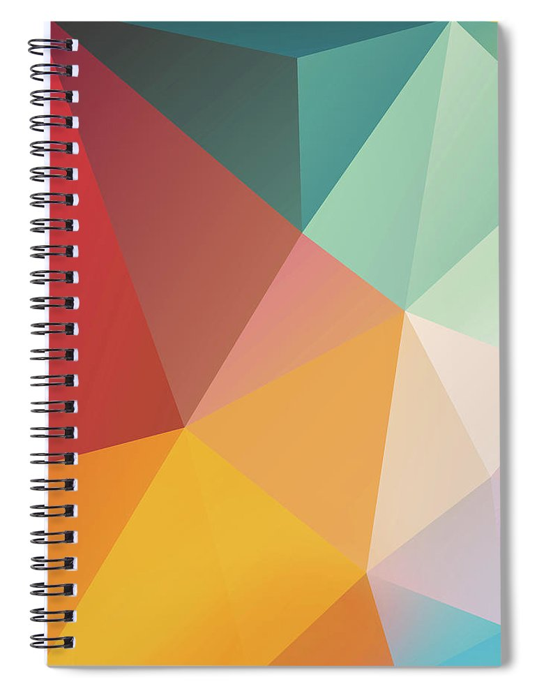 Spiral Notebook featuring the digital art Geometric XXIX by Ultra Pop