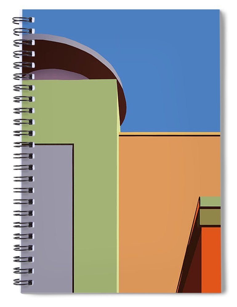 Color Spiral Notebook featuring the photograph Geometry 101 by Nikolyn McDonald