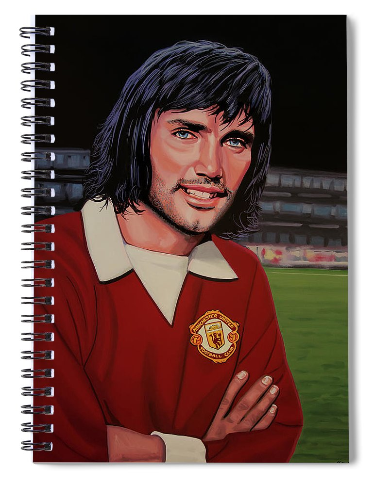 George Best Spiral Notebook featuring the painting George Best Painting by Paul Meijering