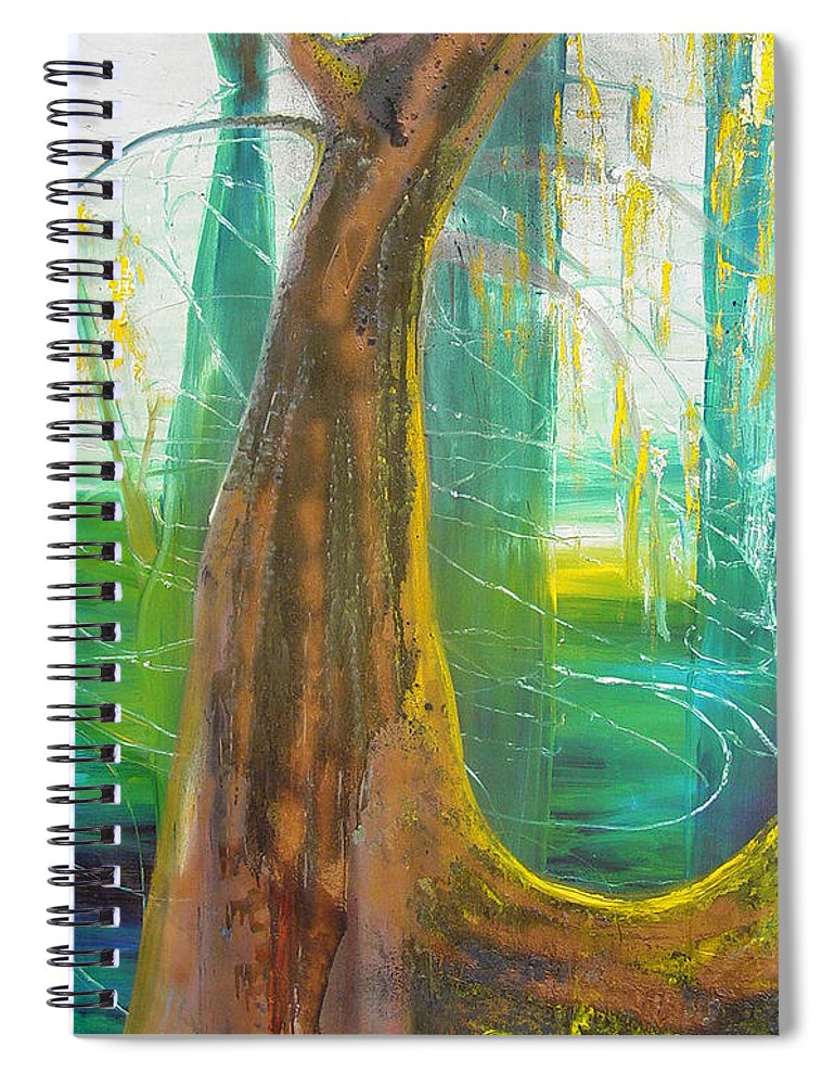 Landscape Spiral Notebook featuring the painting Georgia Morning by Peggy Blood