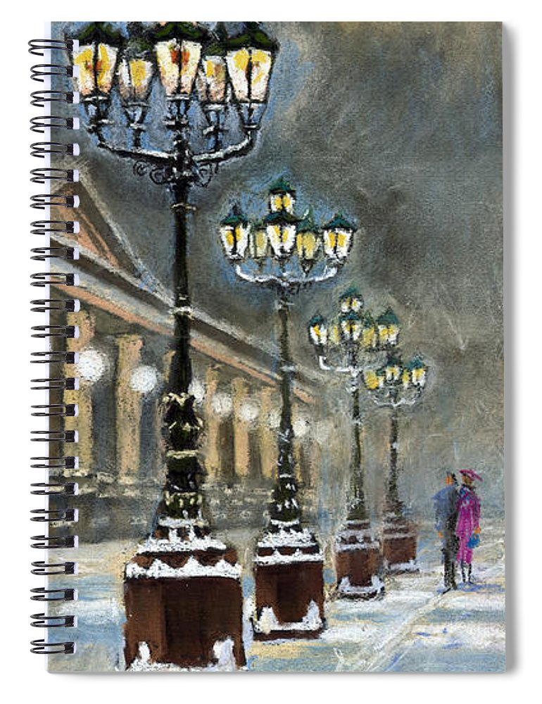Pastel Spiral Notebook featuring the painting Germany Baden-Baden Kurhaus by Yuriy Shevchuk