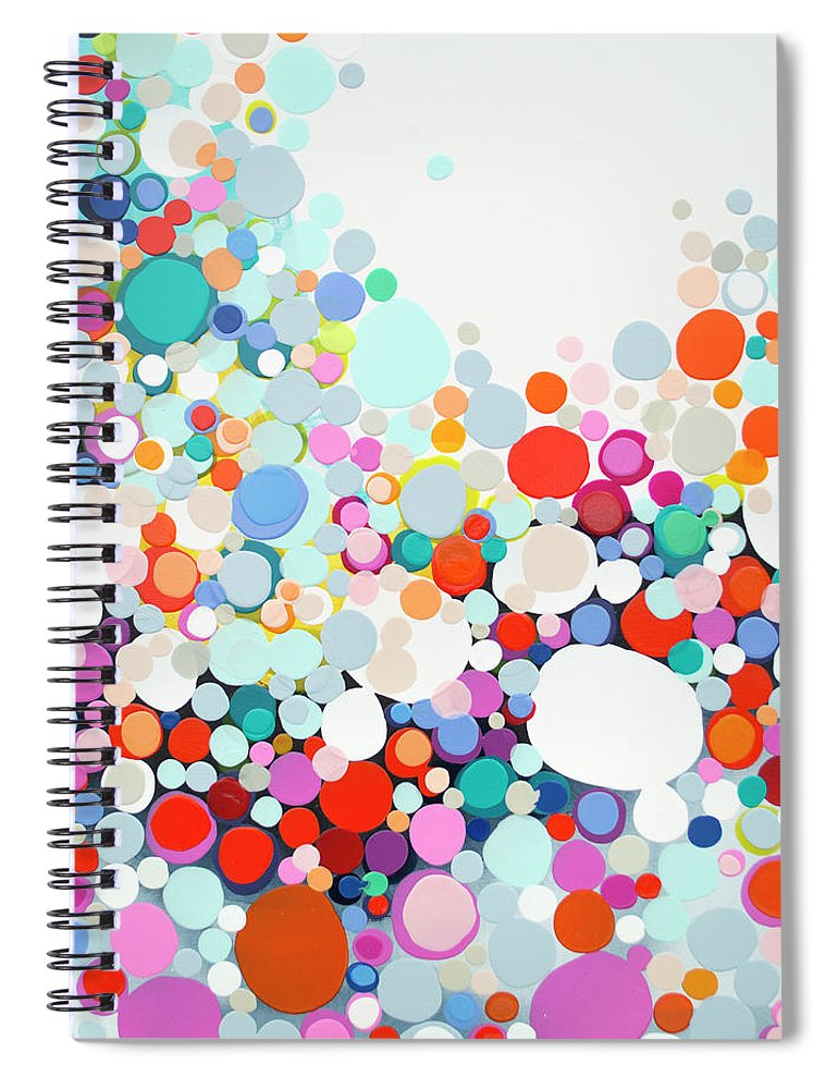 Abstract Spiral Notebook featuring the painting Get Home Late by Claire Desjardins