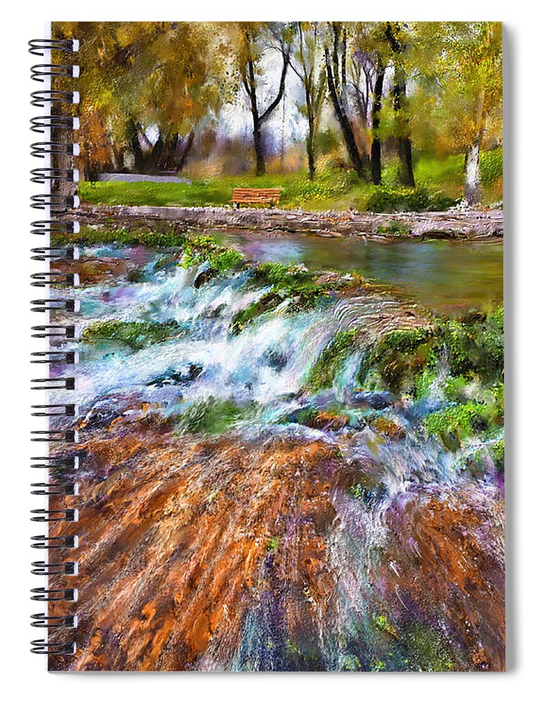 Giant Springs Spiral Notebook featuring the digital art Giant Springs 2 by Susan Kinney