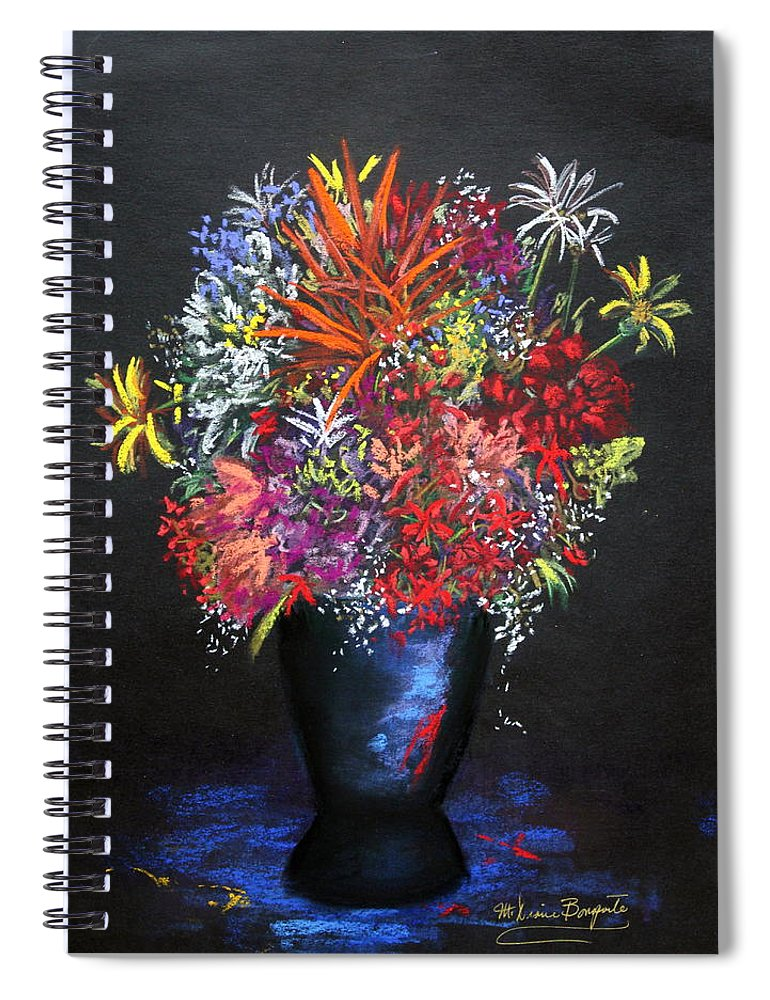 Garden Spiral Notebook featuring the painting Gifts Of The Garden by M Diane Bonaparte