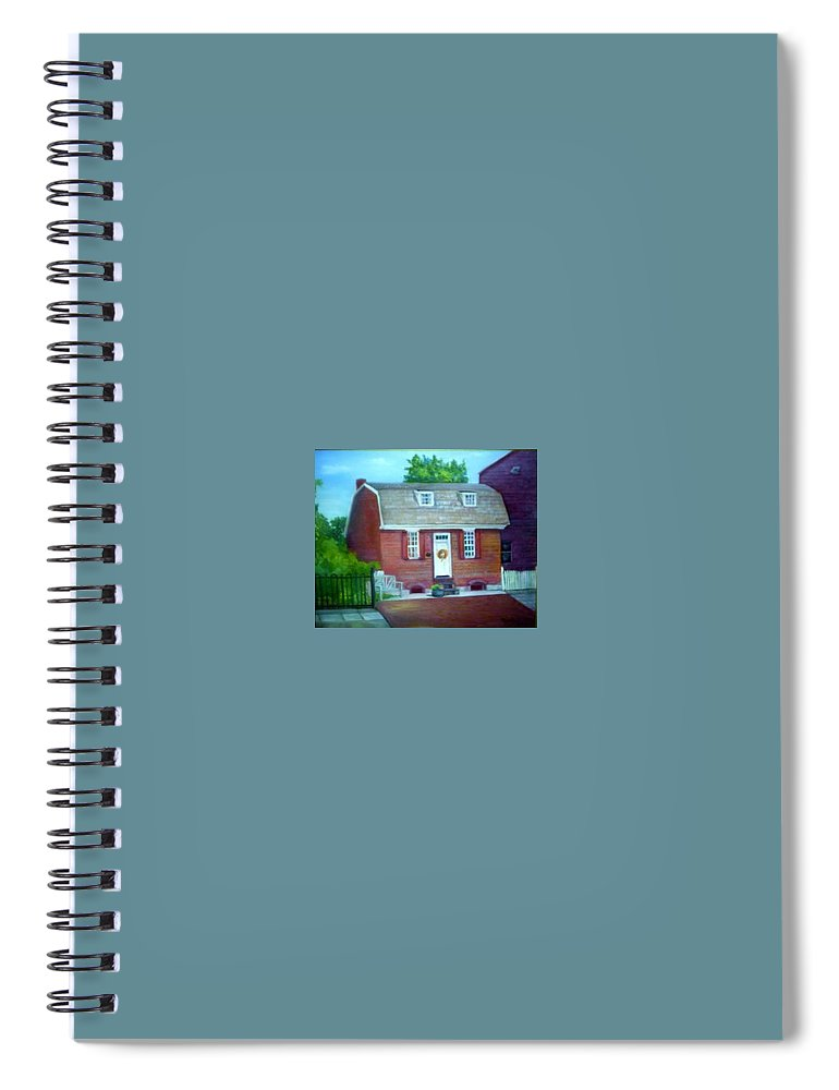 Revell House Spiral Notebook featuring the painting Gingerbread House by Sheila Mashaw