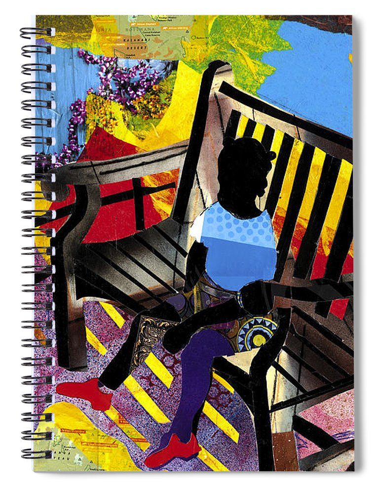 Everett Spruill Spiral Notebook featuring the painting Girl In Red Shoes by Everett Spruill