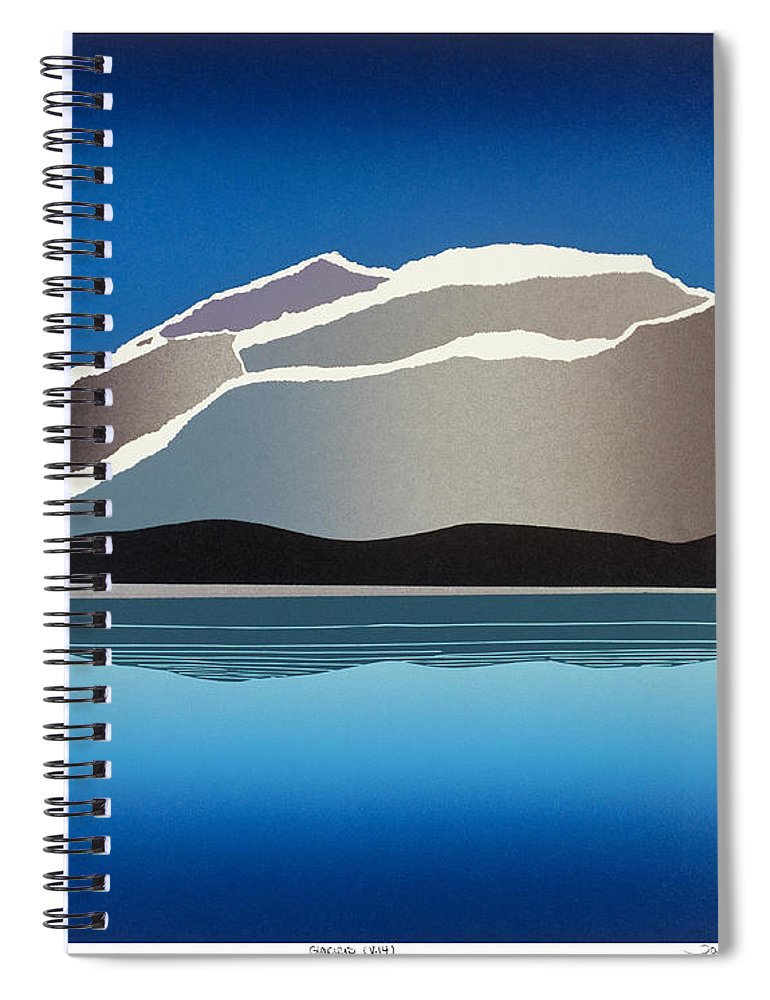 Landscape Spiral Notebook featuring the mixed media Glaciers by Jarle Rosseland