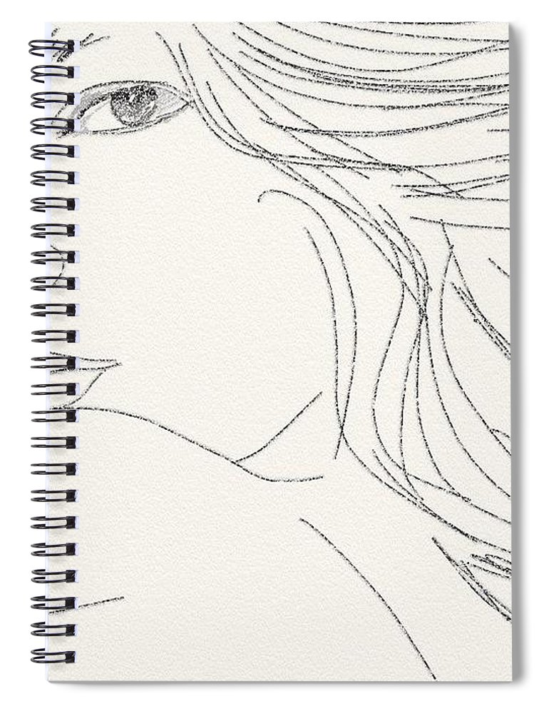 Drawing Spiral Notebook featuring the digital art Glance by Scott Waters