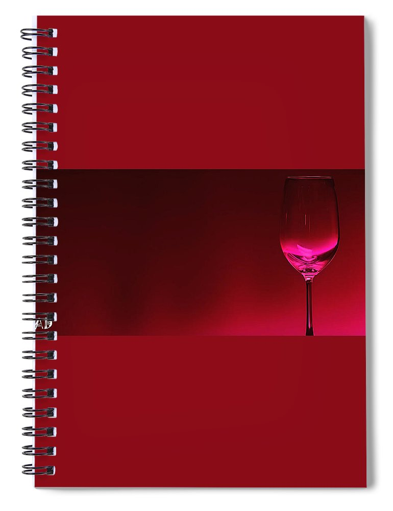 Wine Spiral Notebook featuring the digital art Glass Of Wine by Abhijeet Dhidhatre