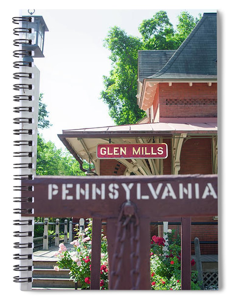 Glen Spiral Notebook featuring the photograph Glen Mills Pennsylvania by Bill Cannon