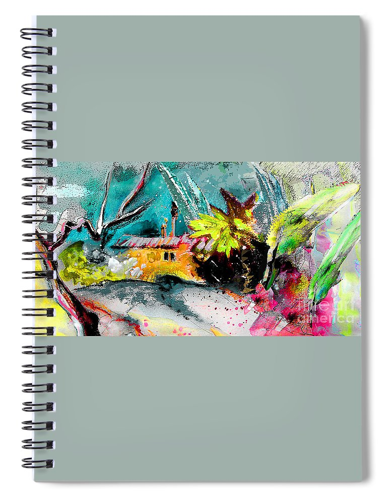 Pastel Painting Spiral Notebook featuring the painting Glory Of Nature by Miki De Goodaboom