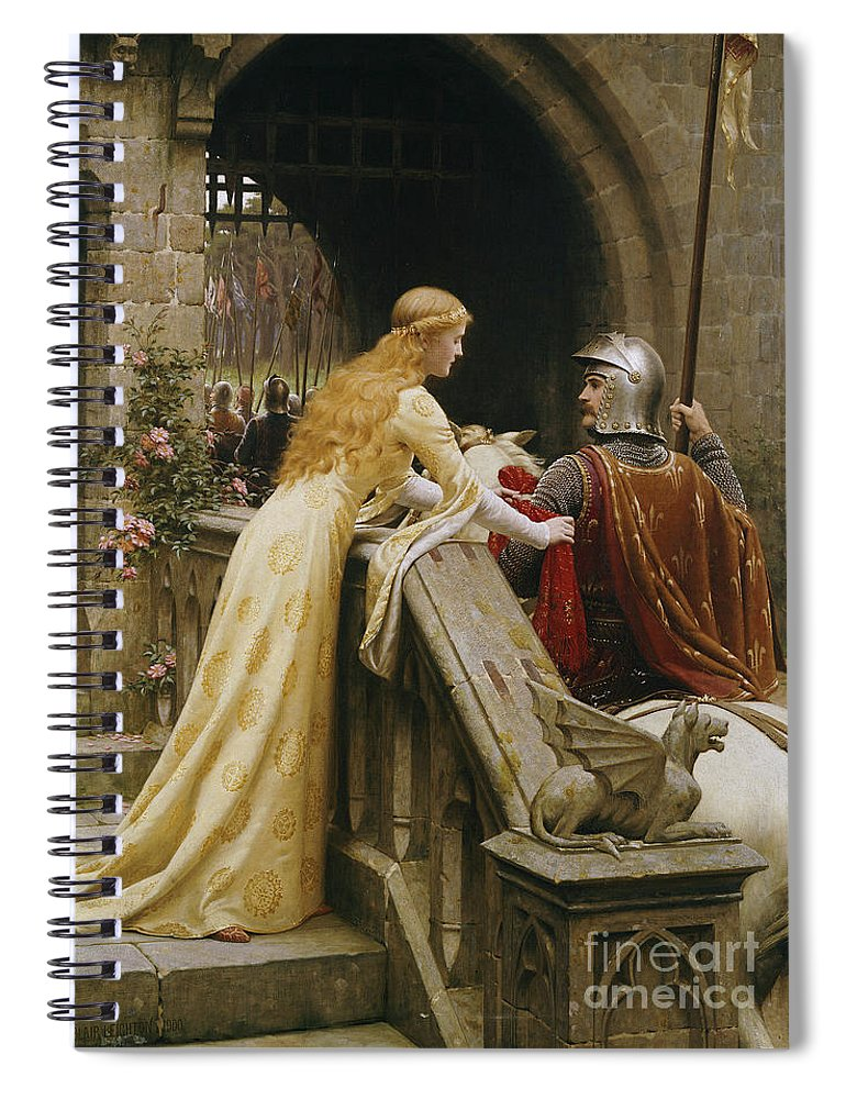 God Speed Spiral Notebook featuring the painting God Speed by Edmund Blair Leighton