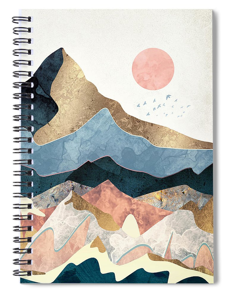 Golden Peaks Spiral Notebook