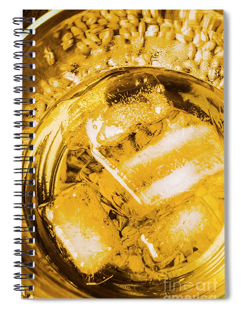 Alcohol Spiral Notebook featuring the photograph Golden Whisky Blend by Jorgo Photography - Wall Art Gallery