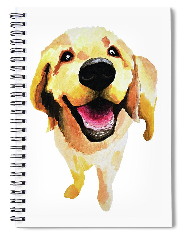 Dog Spiral Notebook featuring the painting Good Boy by Amy Giacomelli