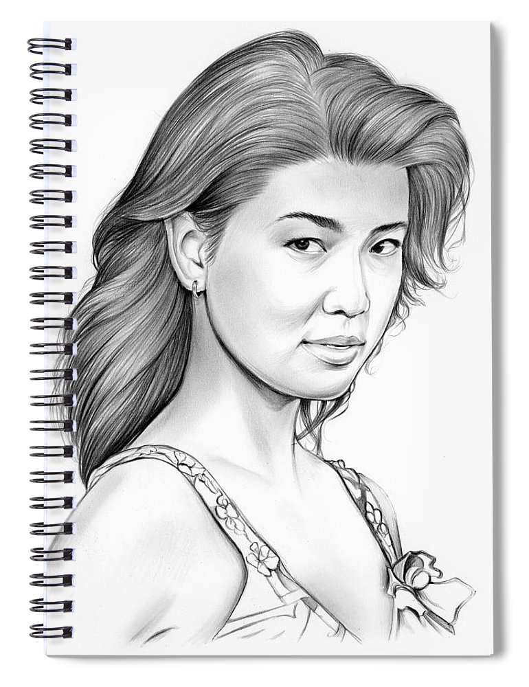 Grace Park Spiral Notebook featuring the drawing Grace Park by Greg Joens