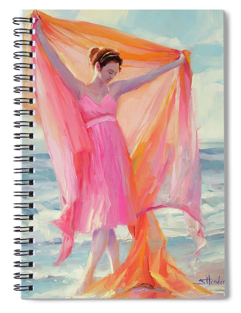 Beach Spiral Notebook featuring the painting Grace by Steve Henderson