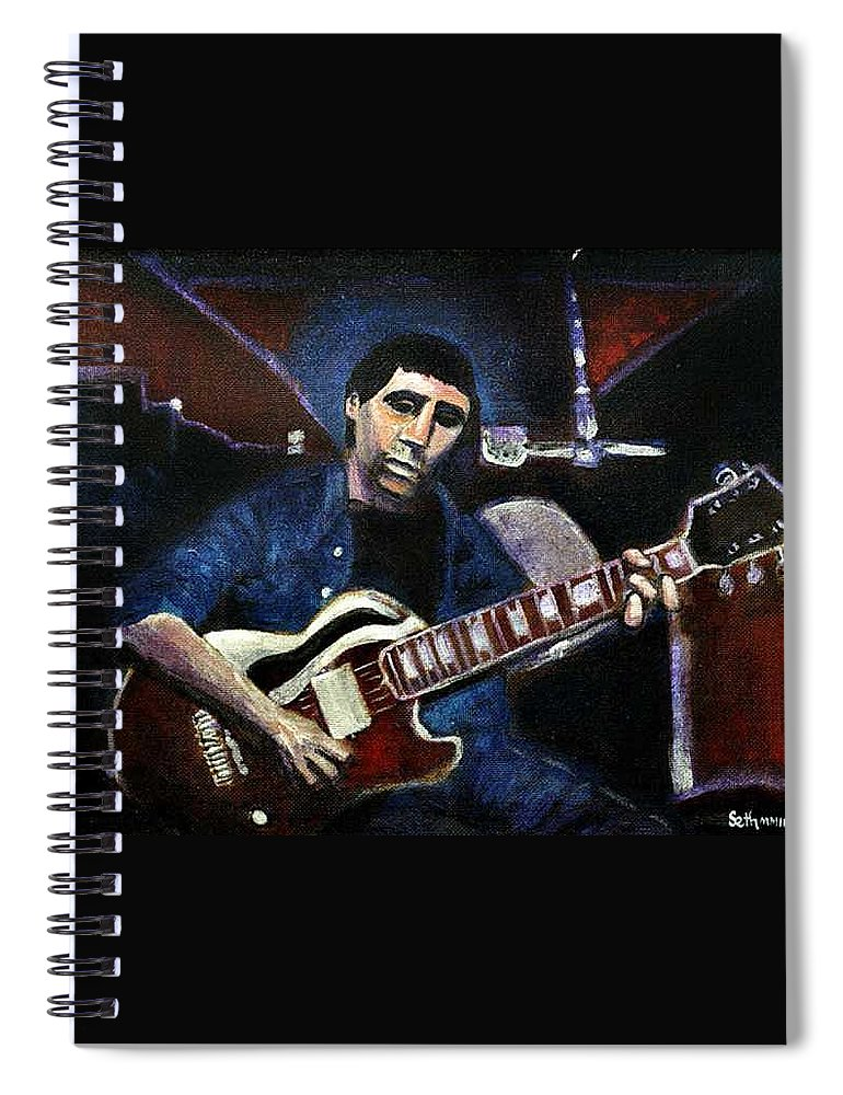 Shining Guitar Spiral Notebook featuring the painting Graceland Tribute to Paul Simon by Seth Weaver