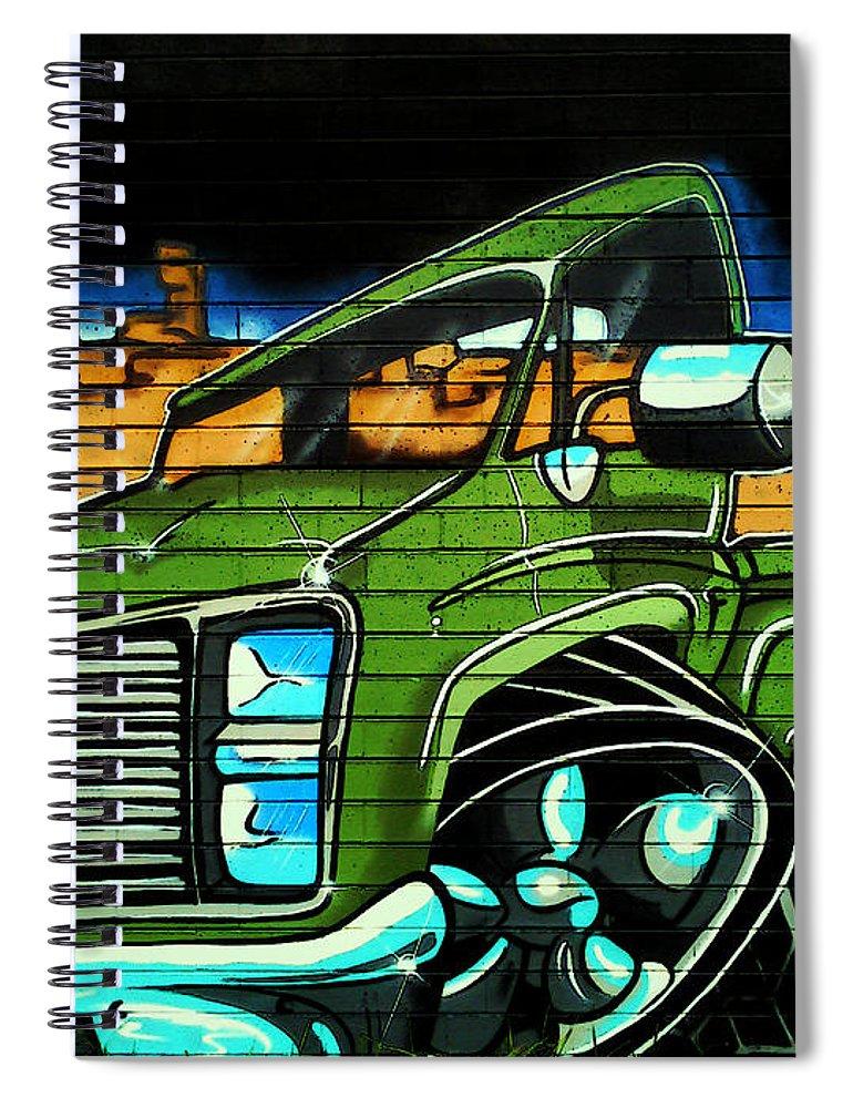 Graffiti Spiral Notebook featuring the photograph Graffiti 10 by Ben Yassa