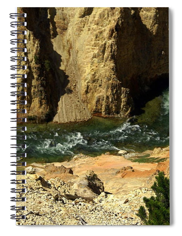 Yellowstone National Park Spiral Notebook featuring the photograph Grand Canyon Of The Yellowstone 3 by Marty Koch