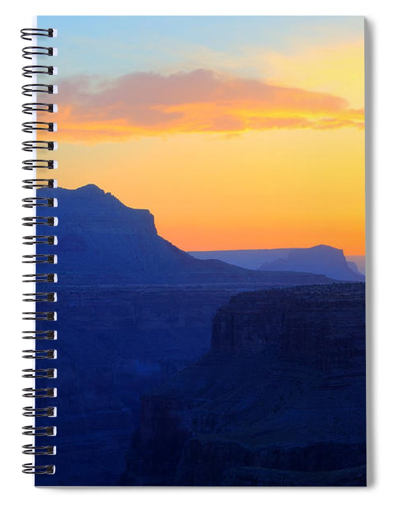 Grand Canyon Spiral Notebook featuring the photograph Grand Canyon Sunrise At Toroweap by Bob Christopher
