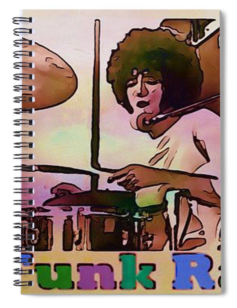 Grand Funk Railroad Spiral Notebook featuring the drawing Grand Funk Railroad Collection - 1 by Sergey Lukashin