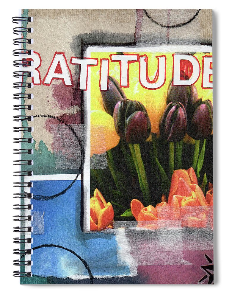 Gratitude Spiral Notebook featuring the painting Gratitude- Art By Linda Woods by Linda Woods