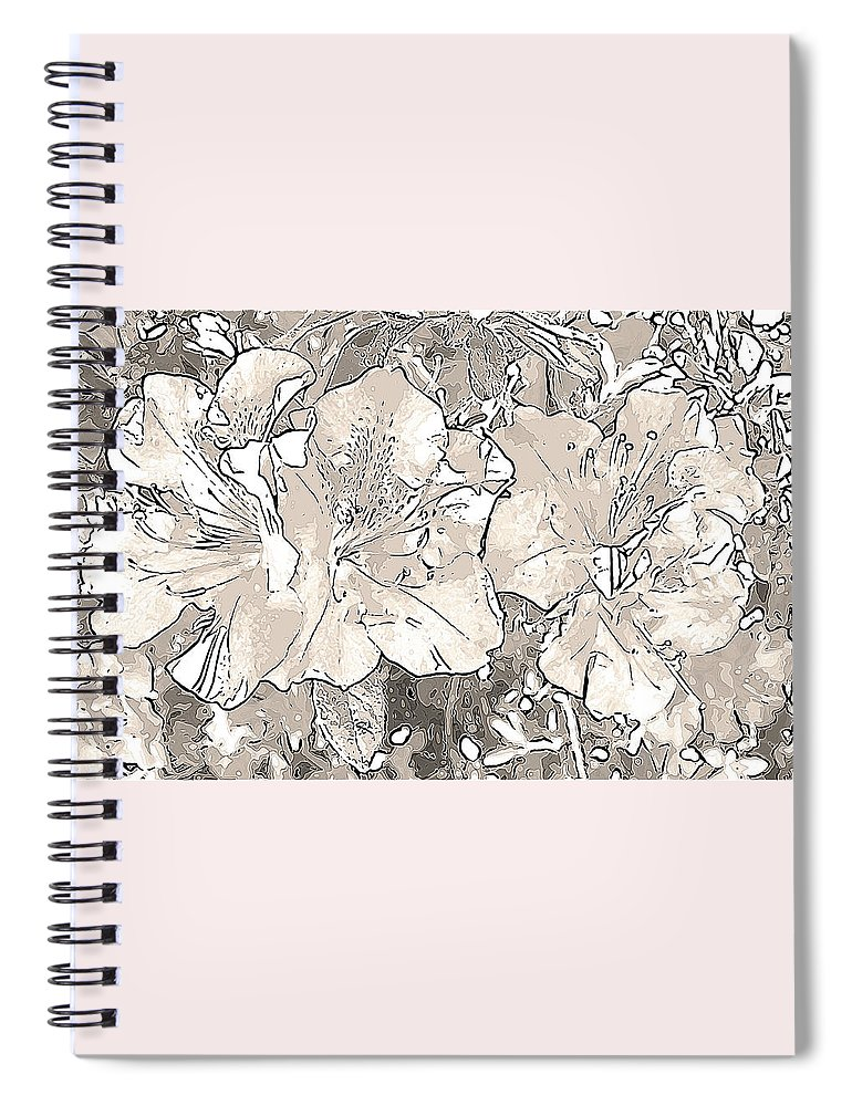 Photography Spiral Notebook featuring the digital art Grayscale Bevy Of Beauties With Sepia Tones by Marian Bell