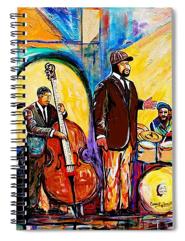 Birmingham Spiral Notebook featuring the painting The Gregory Porter Band by Everett Spruill