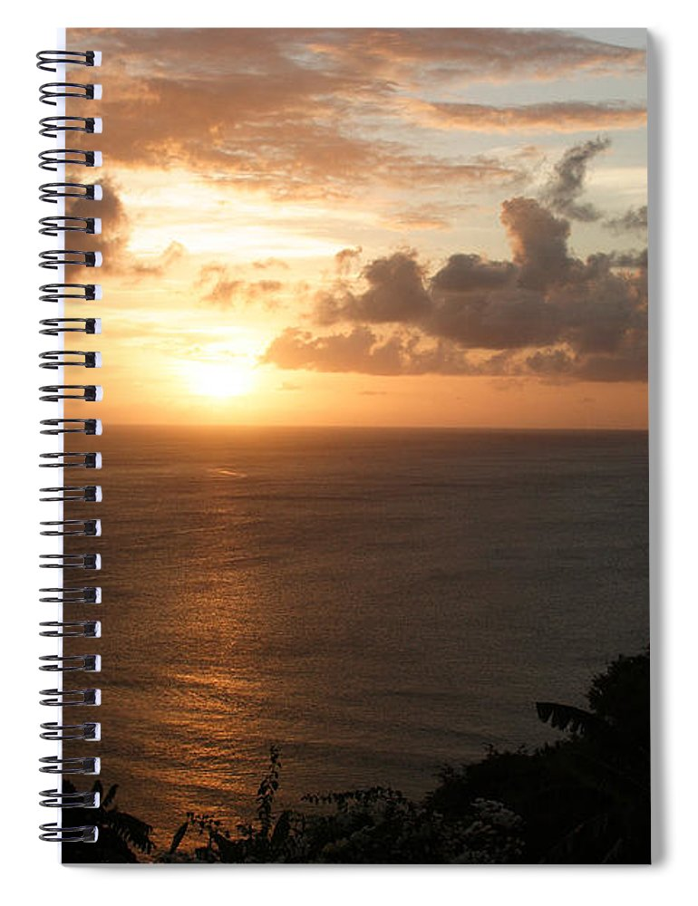 Grenada Spiral Notebook featuring the photograph Grenadian Sunset I by Jean Macaluso