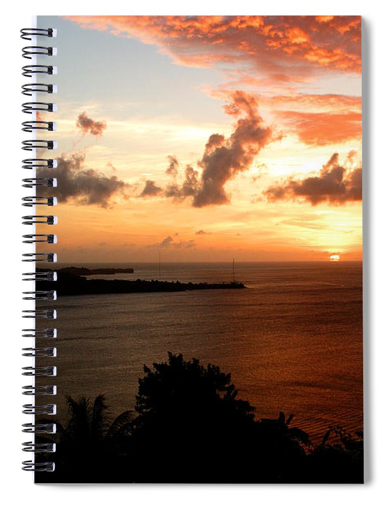 Sunset Spiral Notebook featuring the photograph Grenadian Sunset II by Jean Macaluso