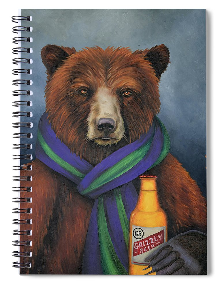 grizzly beer spiral notebook for saleleah saulnier the painting