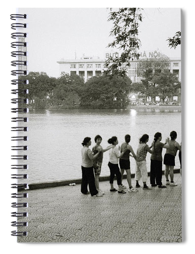 Friendship Spiral Notebook featuring the photograph Group Massage by Shaun Higson