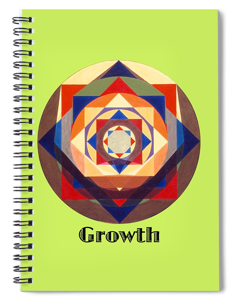 Painting Spiral Notebook featuring the painting Growth text by Michael Bellon